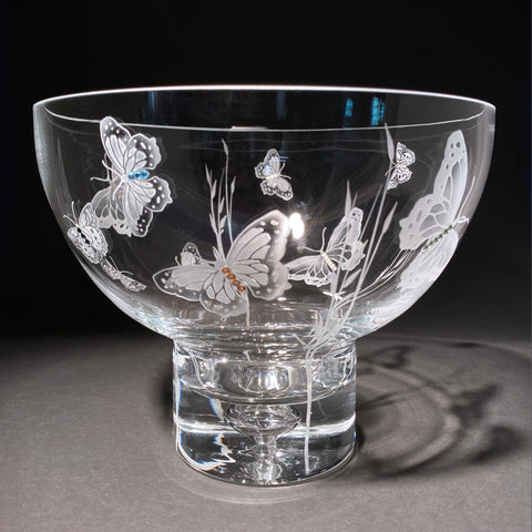Butterfly Footed Centerpiece Bowl