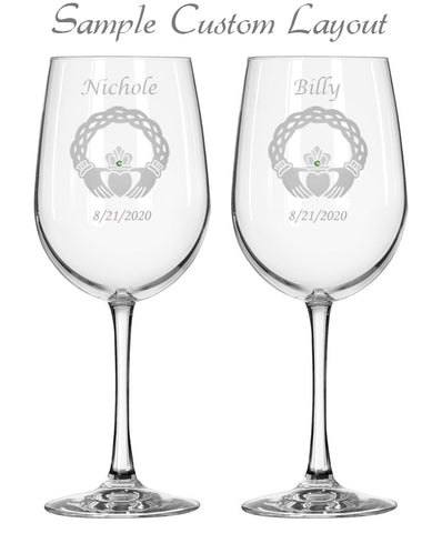 Custom Healy Signature Collection Red Wine Glasses (Set of 2)