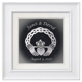 Celtic Claddagh with Custom Text — Framed 12 x 12
