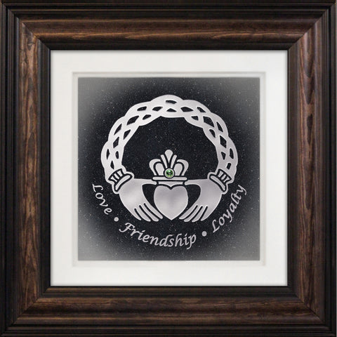 celtic framed hand carved fine art glass
