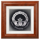 Celtic Claddagh — Framed Hand-Carved Fine Art Glass