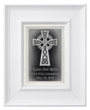 Celtic cross frame 5x7 custom text