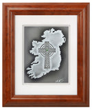 The Cross Over Ireland — Framed Hand-Carved Fine Art Glass