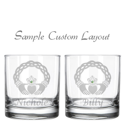 Custom Healy Signature Collection Whiskey Glasses (Set of 2)