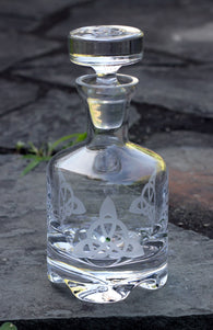 Trinity Knot Trio Footed Decanter