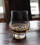 Diamond Pattern Modern Whiskey Glasses (Set of 2)