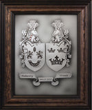 Dual Family Crest — Framed 11 x 14