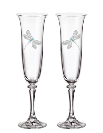 Dragonfly Champagne Flutes (Set of 2)