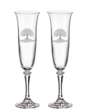 Platinum Champagne Flutes (Set of Two) All Designs Here!