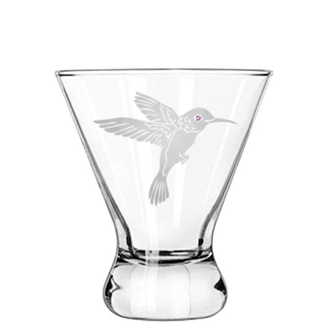 Hummingbird Modern Cocktail Glass