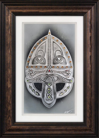 Viking Helmet — Framed 11 x 17