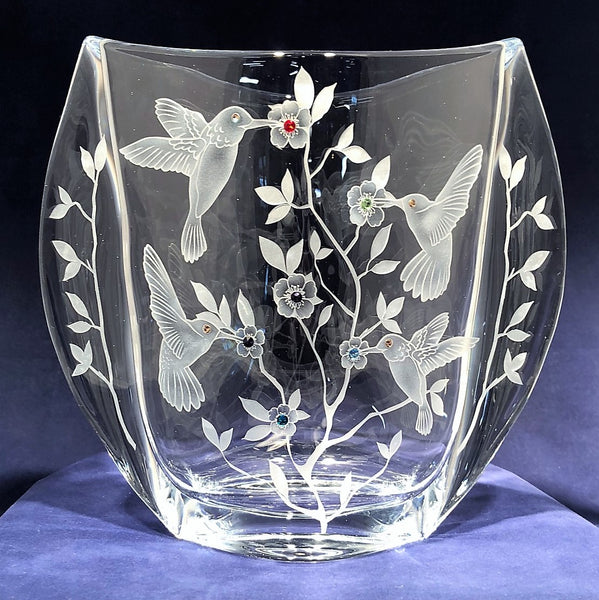 Hummingbird Paradise Large Winged Vase
