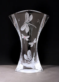 Dragonfly Winged Fan Vase