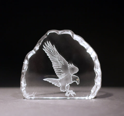Eagle in Flight Crystal Sculpture