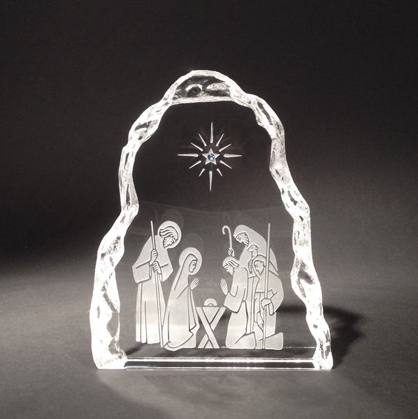 Nativity Crystal Sculpture