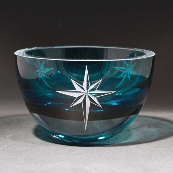 Star of Bethlehem Aqua Blue Bowl