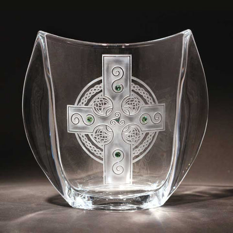 Celtic Shield Large Winged Vase