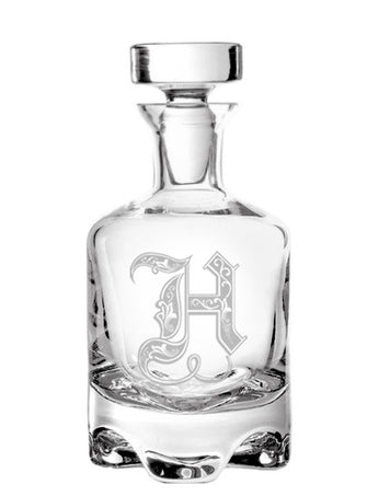 Regal Initial Footed Decanter