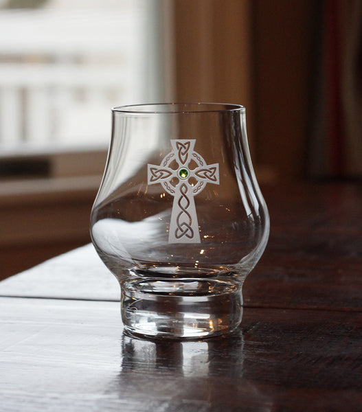 Celtic Cross Modern Whiskey Glass