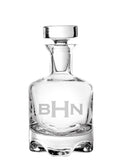 Monogrammed Footed Decanter