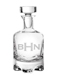 Monogram Footed Decanter