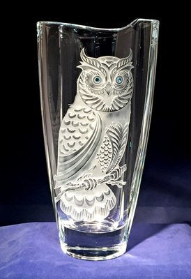 Owl Tall Wave Vase