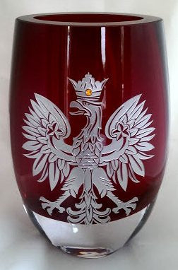 Polish Falcon Red Vase