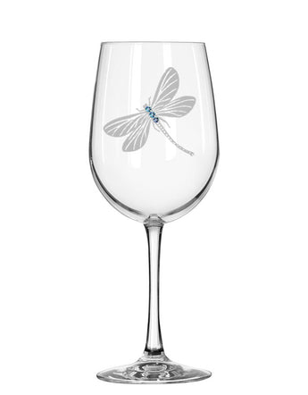 Dragonfly Red Wine Glass
