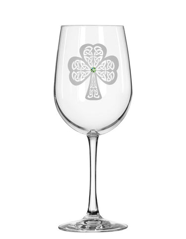 Shamrock Red Wine Glass