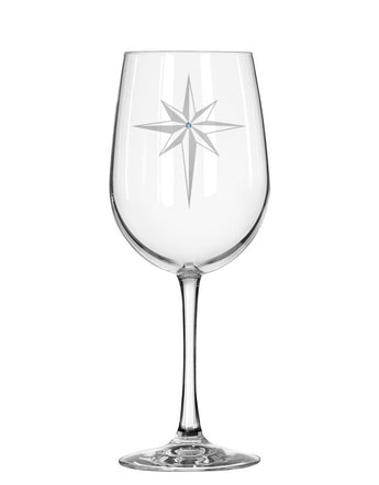 Star of Bethlehem Red Wine Glass