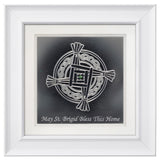 St. Brigid's Cross with Blessing — Framed 12 x 12