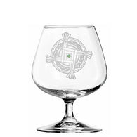 St. Brigid's Cross Brandy Glass