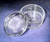 St. Brigid's Cross Crystal Jewelry Box