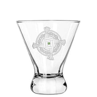 St. Brigid's Cross Modern Cocktail Glass