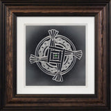 St. Brigid's Cross  — Framed Hand-Carved Fine Art Glass