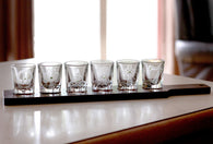 Set of 6 Shot Glasses with Serving Tray