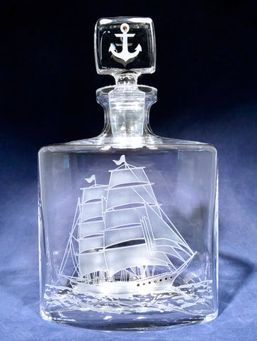 Schooner Ship Flask Decanter