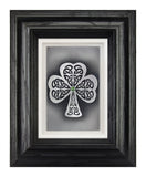 Shamrock — Framed Hand-Carved Fine Art Glass