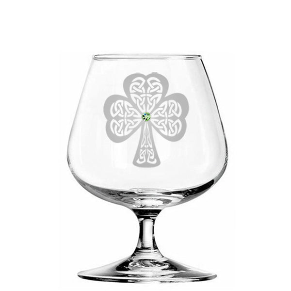 Shamrock Brandy Glass