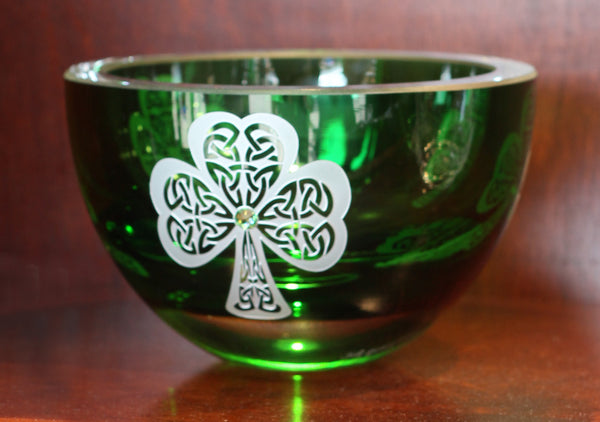 Shamrock Emerald Green Housewarming Bowl