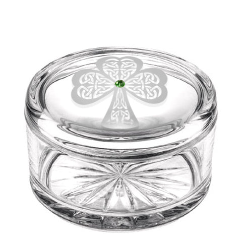 Shamrock Crystal Jewelry Box