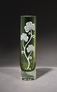 Sprig of Shamrocks Green Bud Vase