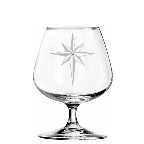 Star of Bethlehem Brandy Glass