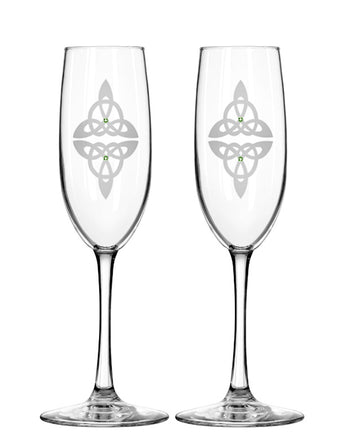 Celtic Reflections Champagne Flutes