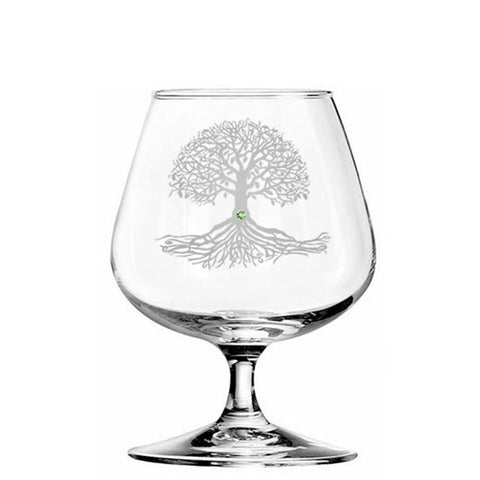 Tree of Life Brandy Glass