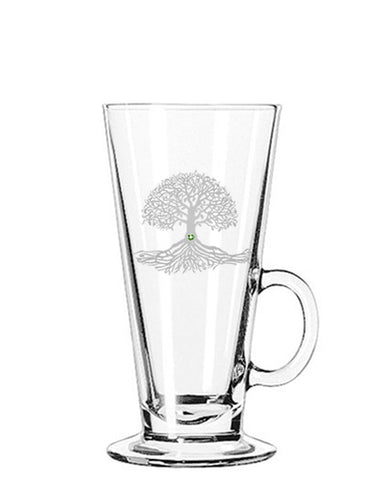 Tree of Life Irish Coffee Glass