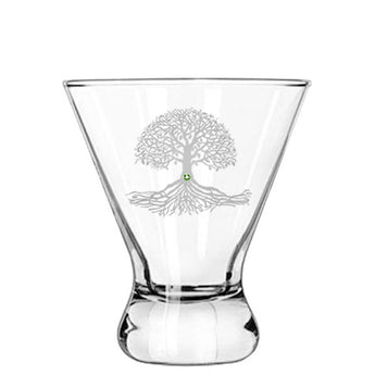Tree of Life Modern Cocktail Glass