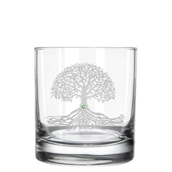 Tree of Life Whiskey Glass