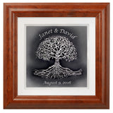 Tree of Life with Custom Text — Framed 12 x 12