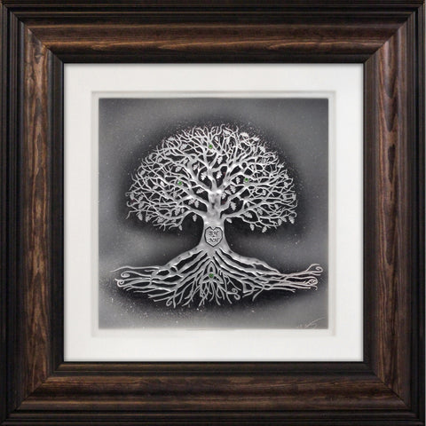 Tree of Life with Custom Initials — Framed 12 x 12